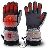 Queta Beheizbare Handschuhe Ski 3 Modi Beheizte Handschuhe für Herren und Damen Wasserdicht Elektrische Warme Handschuhe für das Radfahren, Motorrad, Wandern Skitouren