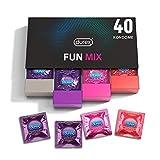Durex Fun Explosion Kondome in stylischer Box – Aufregende Vielfalt, praktisch & diskret verpackt - Verhütung, die Spaß macht – 40er Großpackung (1 x 40 Stück)