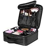 Luxspire Makeup Kosmetikkoffer, Professionelle Make Up Etui Kosmetische Box Tragbare Reise Künstler Aufbewahrungstasche Toiletry Organizer mit einstellbaren Teiler, Schwarz