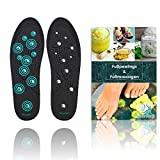 SilverRack Magnetische Einlegesohle für Frauen u. Herren (Größe 40-46) - Magnetische Schuheinlagen Einlegesohlen für Akupressur und Massage - Einlagen mit Magneten