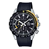 Casio Edifice Herren Chronograph Quarz Armbanduhr EFR-566, Schwarz