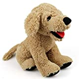 LotFancy Hund Kuscheltier Plüschtier Golden Retriever 30cm Groß Weich Plüsch-Hund, Kuschelig Geschenk für Kinder Thanksgiving