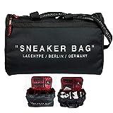 LaceHype Sneaker Bag Schuhtasche Shoebag Reisetasche für Schuhe mit Trennwänden – hochwertige Sneaker Tasche für Schuhe, passend bis zu 4 Paar, männlich, Unisex