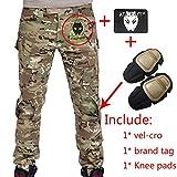 Herren Shooting BDU Combat Hose Hose mit Knie Pads Multicam MC für Tactical Military Armee Airsoft Paintball Größe L Multicam
