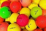 lbc-sports LbcGolf Bunte Fun gemischte Golfbälle 25 Stück - AAAA - AAA - bunt - Lakeballs - gebrauchte Golfbälle - Teichbälle - lustig - farbig - Damen - Top Qualität