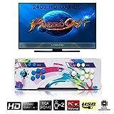 2400 Classic-Spiele Home Arcade Konsole, SeeKool Pandoras Box 9s+ Joystick Spielkonsole, Kundenbezogene Schaltflächen, 1280x720 Full HD, Unterstützt PS3, HDMI und VGA Ausgang