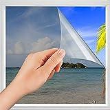 Spiegelfolie Selbstklebend Blickdicht ,Sonnenschutzfolie Fenster ,Sichtschutzfolie Fenster ,Spiegelfolie Reflektierende Fensterfolie Milchglas Selbstklebend Kratzfest UV-Schutz 60 x 200 cm
