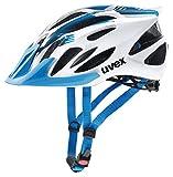 Uvex Unisex– Erwachsene Flash Radhelm, White Blue, 57-61