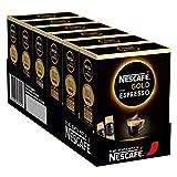 NESCAFÉ GOLD Typ ESPRESSO, hochwertiger Espresso aus löslichem Bohnenkaffee mit 100% feinen Arabica Kaffeebohnen, koffeinhaltig, mit samtiger Crema, 6er Pack (à 25 x 1,8g Sticks)