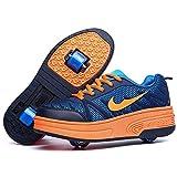 Wasnton Skater-Schuhe / Kinder-Turnschuhe mit 1-2Rollen, Skateboardschuhe, Orange - Orange2 - Größe: 34 EU Estrecho