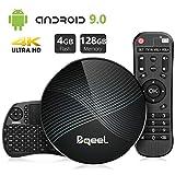 Bqeel Android TV Box Smart Box U1 MAX mit Tastatur【4G+128G】 Android 9.0 TV Box mit RK3328 Quad-Core 64bit Cortex-A53 /WiFi 2.4G/5.0G /Bluetooth 4.0/ 4K HD/ USB 3.0/ H.265 Smart tv Box