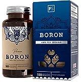 FS Bor Tabletten | 3mg Boron Ergänzungsmittel für das | 180 Chelatisiert Vegane Kapseln | GVO-Frei | Milch, Allergen und Gluten Frei | Hergestellt in ISO-Zertifizierten Betrieben