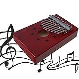 YHLVE 10-Tone Red Daumen-Klavier mit Schallloch, Single Board Instrumental Begleitung