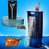 LONDAFISH Stummer Schildkröten-Filter-Wasser-versenkbarer Filter für Schildkröte-Behälter/Aquarium-Filtration 600L / H