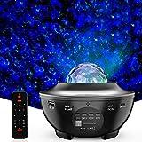 LED Sternenhimmel Projektor Lampe Nachtlicht Galaxy Projektor, Eingebautem Bluetooth Musiklautsprecher für Party Weihnachten Ostern Halloween und Kinder Erwachsene Zimmer Dekoration