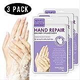 3 STÜCKE Hand Peeling Maske, Spa Handschuhe Feuchtigkeitsverstärkende Handschuhe für trockene Hände, Peeling Hand Peeling Maske, Reparatur raue Haut für Männer Frauen