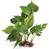 DIGIFLEX 20 cm künstliche Aquariumpflanze, grüne echt aussehende Aquarium-Zierblätter, Plastikpflanzen für Aquarien