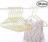 Cocomaya 30,5 cm Hochleistungs-Babykleiderbügel aus glänzendem Goldmetall, Kinderbügel für Kleiderbügel mit Kerben 10er-Pack