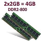 Dual Channel Kit: 2 x 2 GB =4GB 240 pin DDR2-800 DIMM (800Mhz, PC2-6400) 128Mx8x16 double side, TOP MARKEN - JE NACH VERFÜGBARKEIT - TOP PREIS - 100% kompatibel zu DDR2-667 PC2-5300 / DDR2-533 PC2-4200
