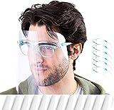 HONYAO Schutzvisier für Kinder und Erwachsene, 12 Austauschbaren Antibeschlag Transparent Abdeckungen und 6 Brillengestell, Faceshield Visier Gesichtsvisier_Gesichtsschild mit Brillengestell