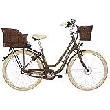 FISCHER E-Bike Retro ER 1804 (2019), 28', RH 48 cm, Vorderradmotor 20 Nm, 36 V Akku, 317 Wh
