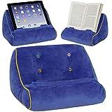 BookCouch Blau - Lesekissen für Bücher und Tablets: Bequem und stabil