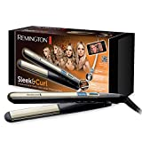 Remington Haarglätter Sleek & Curl S6500, abgerundetes Design für präzises Lockenstyling, schwarz/beige
