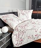 Janine Mako Satin Bettwäsche 135 x 200 cm Satin Bettbezug weiß Palermo Bettwäsche weiß aus Baumwolle