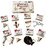 toys-for-all Knobelspiel Klassiker Set 1 - 8 Geschicklichkeitsspiele in Geschenkverpackung - incl. Lösung