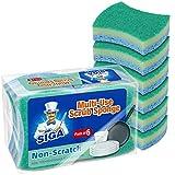 MR.SIGA Mehrzweck Zellulose-Schwamm, Beidseitiger Spülschwamm für Küche, 12er-Pack