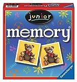 Ravensburger 21452 - Junior Memory, der Spieleklassiker für die ganze Familie, Merkspiel für 2-8 Spieler ab 4 Jahren