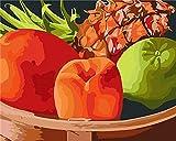 JIAORLEI Malen Nach Zahlen Leinwand Erwachsene Geschenk Malen Nach Zahlen Kits Fruchtextrakt Haus Büro Wanddekor-40x50cm No Frame