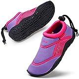 HKR Mädchen Wasserschuhe Leicht Aquaschuhe Strandschuhe Schwimmschuhe Kinder Lilac/Pink 34 EU