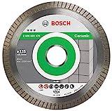 Bosch Professional Diamanttrennscheibe Best for Ceramic Extra-Clean Turbo (Keramik, 125 x 22,23 mm, Zubehör Winkelschleifer)