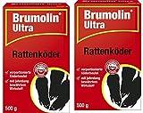 Köder-Discount: Brumolin Ultra Rattenköder 2 X 500g mit 2 Warnaufklebern