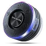Bluetooth Lautsprecher Dusche, IPX7 Wasserdicht Tragbares Musikbox mit LED Lichter, Bluetooth 5.0 Boxen TWS Kabelloser Speaker Satter Bass, Freisprechfunktion für Handy, FM Radio für Pool, Badezimmer