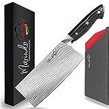 Marindo® Chinesisches Kochmesser Edelstahl   18cm Klingenlänge   Küchenbeil mit dreifach genietetem Holzgriff   Hackmesser chinesisch   Fleischmesser extrem scharf   Inkl. Geschenkbox