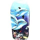 Lively Moments Bodyboard 94 cm/Body Board/Surfboard/Schwimmbrett in hellblau mit 3 Delfinen