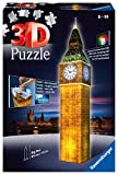 Ravensburger 3D Puzzle Big Ben bei Nacht mit 216 Teilen, für Kinder und Erwachsene, Wahrzeichen von London im Miniatur-Format, Leuchtet im Dunkeln