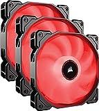 Corsair AF120 Air Series LED Geräuscharmer Lüfter (120 mm, Dreierpack) rot