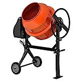 [in.tec] Betonmischer (140 Liter-2800 U/Min-550W) Betonmischmaschine Zementmischer Mörtelmischer - orange lackiert