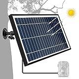 TRAIL WATCHER Solarladegerät Panel 5.5W Ausgangsspannung 6V DC Hafen Draussen Wasserdicht Sonnenkollektor 360° Gedreht Ladegerät zum Kamera Wildkamera Redner DVD Gleichstromausrüstung