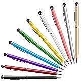 MEKO Tablet Stift, 10er Pack Touchscreen Stifte mit schwarzer Kugelschreiber, 2 in 1 Stylus Pen für Smartphone iPhone iPad Android Samsung Microsoft Surface Tab &Tablets