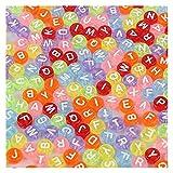 KASILU Zhuz426 Hohe Qualität 100 Teile/los Runde flaches Alphabet/Buchstabe Acryl Spacer Perlen Größe 4 * 7mm für Modeschmuck Schnuller Handgemachte Handwerker DIY. (Color : Type 10)
