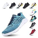 Laufschuhe Herren Turnschuhe Licht rutschfest Atmungsaktiv Sportschuhe Fitness Dämpfung Sneakers F-Blau 47
