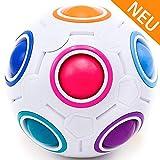 CUBIXS – Regenbogenball – Geschicklichkeitsspiel für Kinder und Erwachsene – tolles Mitgebsel für Kindergeburtstag Gastgeschenk Spielzeug – auch als Stressball oder Knobelspiel für Erwachsene