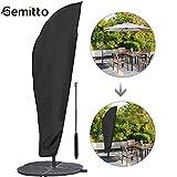 GEMITTO Sonnenschirm Schutzhülle mit Stab, Sonnenschirm Abdeckung 2 bis 4 M Große Sonnenschirm Schutzhülle, Wetterfeste, UV-Anti, Winddicht und Schneesicher, Outdoor für Ampelschirm