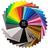 ORIGINAL Vernice selbstklebende Plotterfolie - Vinylfolie in gängiger Plotter Größe 30.4 cm x 30.4cm - Set aus 42 Folien - zum Basteln und kreativen Arbeiten - Für alle glatten Flächen geeignet!