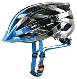 Uvex I-VO C Fahrradhelm, dark silver - blue, 56-60 cm