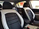 Sitzbezüge K-Maniac für Opel Adam | Universal schwarz-Weiss | Autositzbezüge Set Vordersitze | Autozubehör Innenraum | V1033889 | Kfz Tuning | Sitzbezug | Sitzschoner